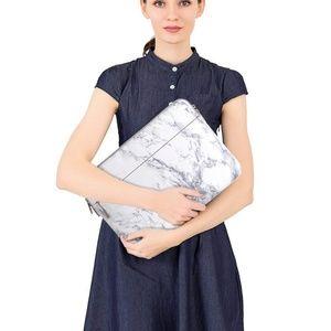 White Marble Mosiso Laptop Sleeve Bag Laptop Case